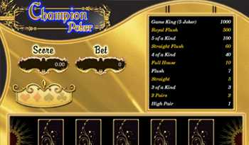 Champion Poker Game Online